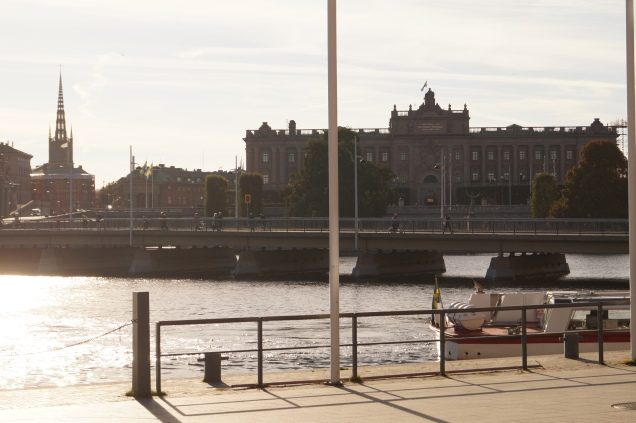 Sveriges Riksdag sett från Grand Hôtel