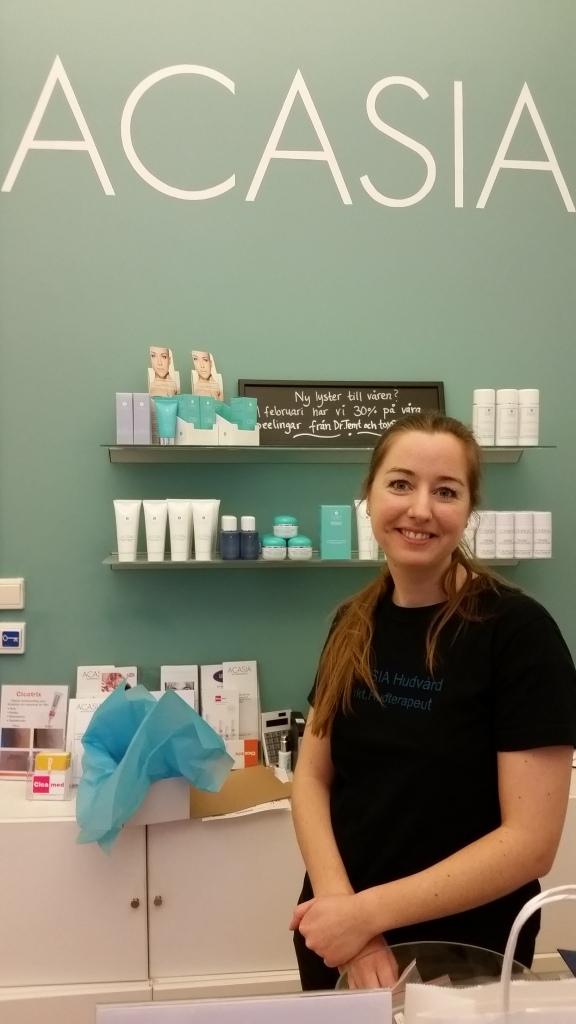 Trevligt bemötande av hudterapeuten Kristin